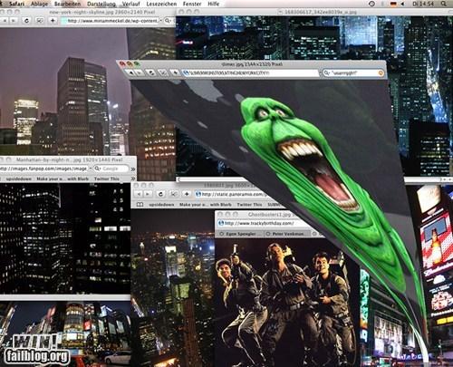 clever,desktop,Ghostbusters,slimer