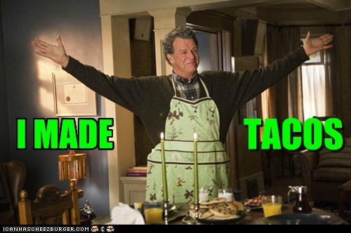 Fringe,Walter Bishop,John Noble,tacos,tada,dinner