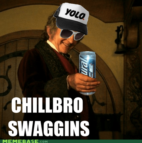 Bilbo Baggins hipster Hobbitses Lord of the Rings Movie yolo - 6579700480