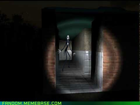 jack skellington,slenderman,crossover