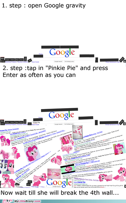 google google gravity perfect plan pinkie pie - 6580321024