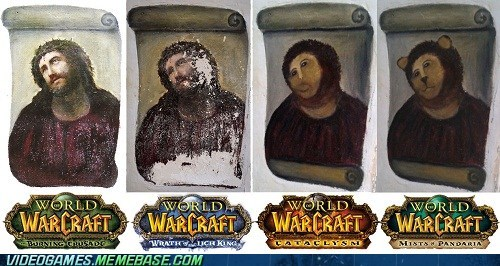 botched ecce homo,expansions,meme,world of warcraft