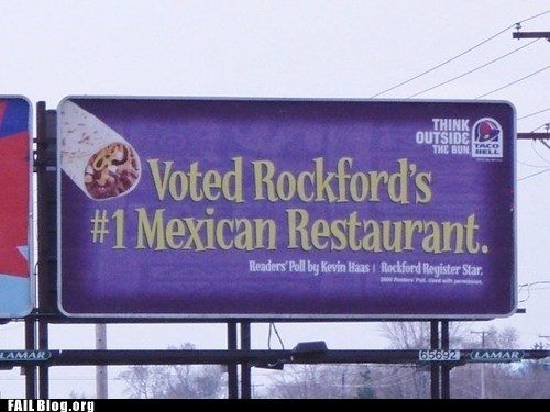 billboard food Mexican sign taco bell - 6580559360