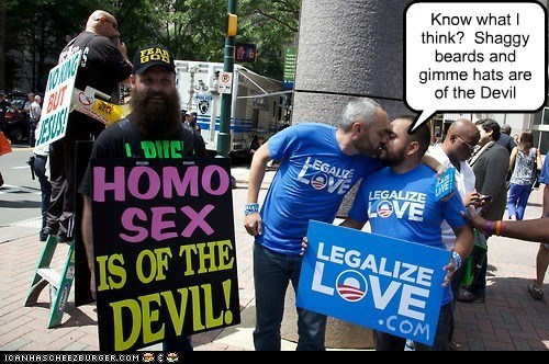 beards fashion homosexuals love Protest the devil