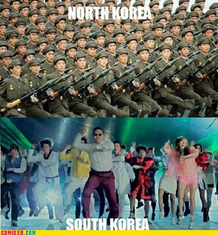 gangnam style,Kim Jong-Il,North Korea,south korea