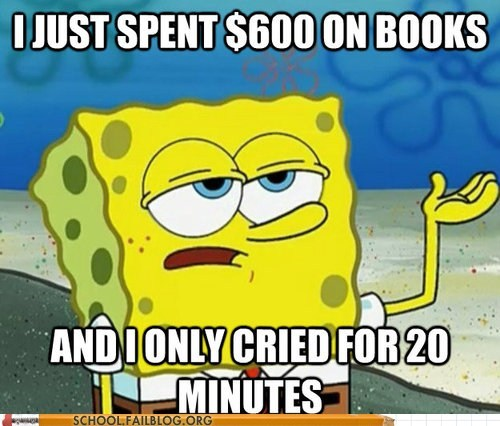 school bookstore,SpongeBob SquarePants,such a survivor,textbooks