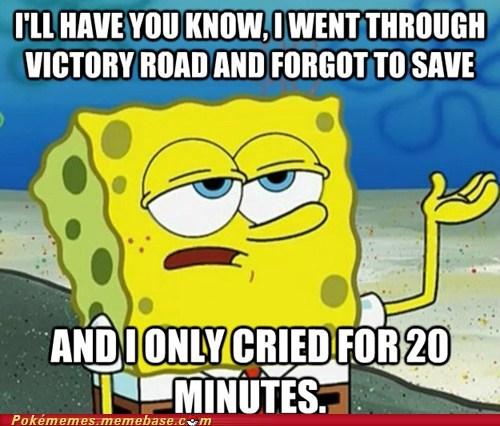 meme SpongeBob SquarePants tough victory road - 6580749568