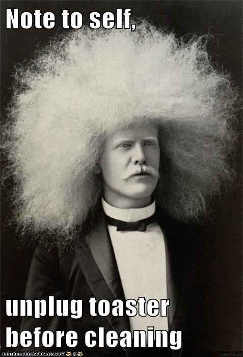 blonde edgar winter electricity frizz hair man