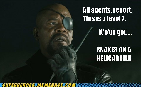 avengers Nick Fury Samuel L Jackson snakes on a plane - 6580775680