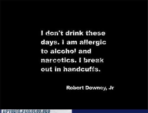 Wasted Wisdom robert downey jr handcuffs - 6580802304