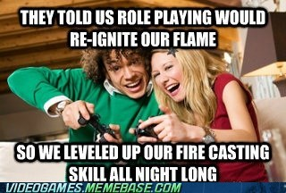 couple fire skill gamers relationship role playing