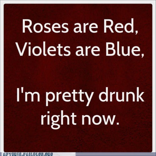 poems pretty drunk roses are red - 6580815360