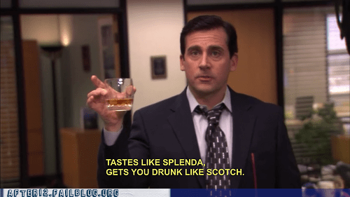 Michael Scott,mikes-hard-lemonade,scotch,splenda,the office