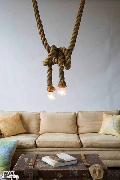 design lamp light bulbs rope - 6580857344