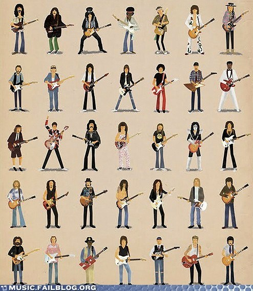 cartoons guitarists poster