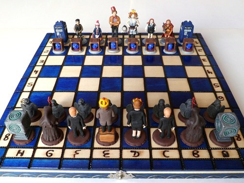 chess set doctor who etsy tardis - 6580903936