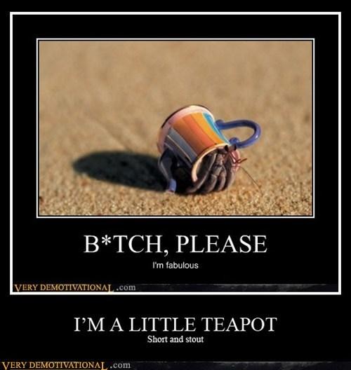 damn crab short stout tea pot tip me over - 6580978944