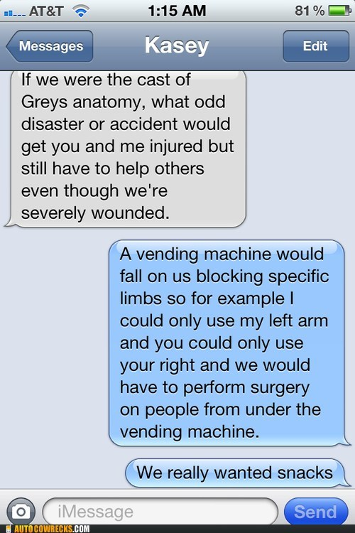 for the love of snacks Greys Anatomy iPhones surgery - 6581031168