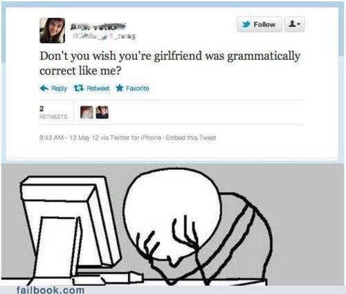 facepalm grammar grammatically correct twitter - 6581087232