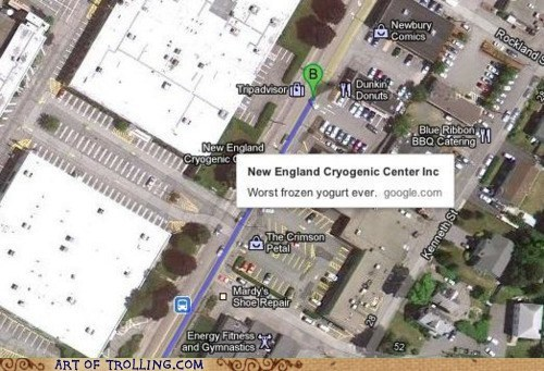 cryogenic center,google maps,man milk,yogurt