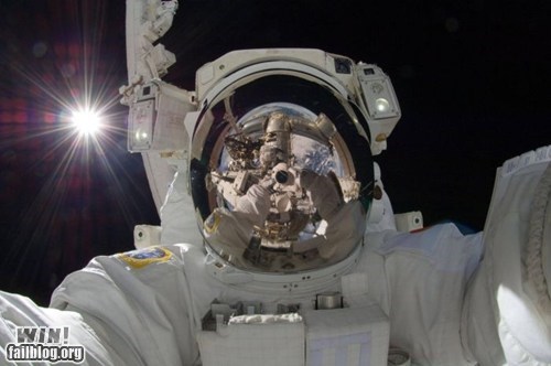 astronaut science self portrait self pic space