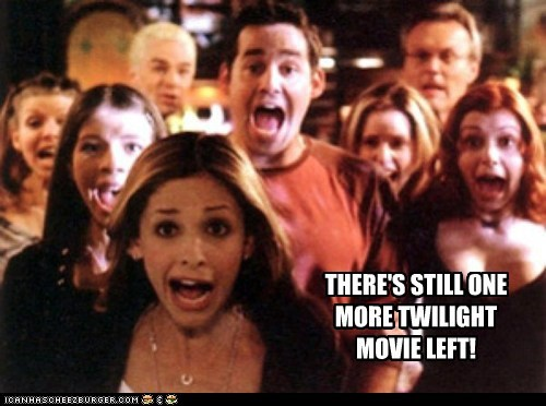 Buffy the Vampire Slayer screaming buffy summers Sarah Michelle Gellar nicholas brendon xander harris one more twilight - 6581458176