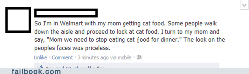 cat food,parenting,trolling,tuna,Walmart