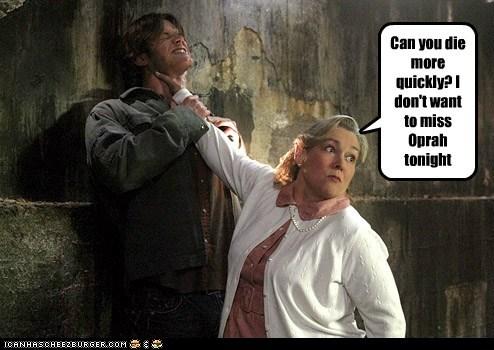 sam winchester Supernatural Jared Padalecki die oprah choking sci fi - 6581630208