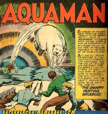 aquaman polar bear thrown - 6581803776