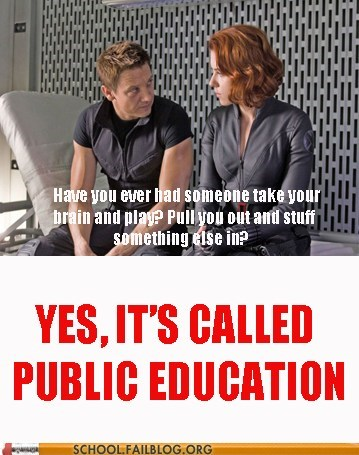 hawkeye public education The Avengers zing
