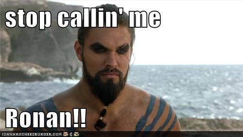 Khal Drogo ronan dex Jason Momoa Game of Thrones Stargate stop wrong name mix up - 6581849088