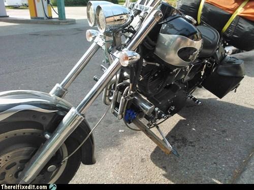 kickstand motorcycle post roadside post - 6582139392