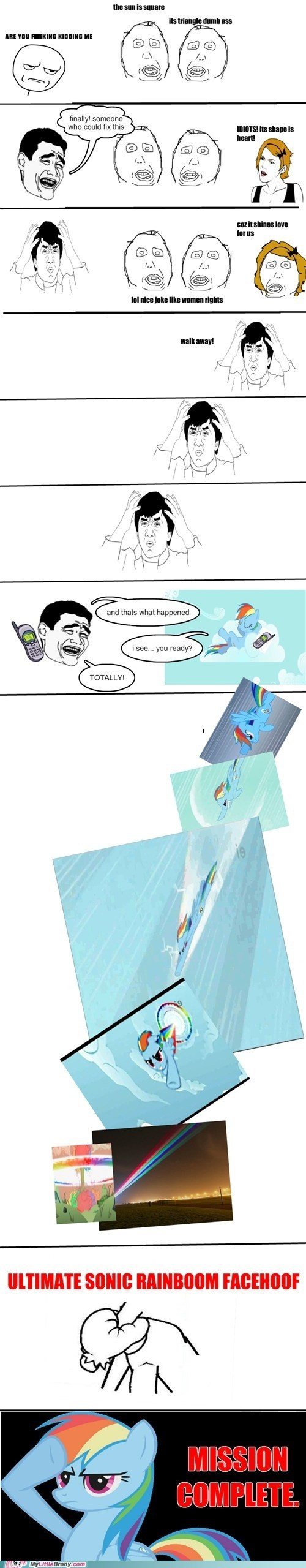 rage comic that has to hurt ultimate sonic rainboom facehoof wtf - 6582474240