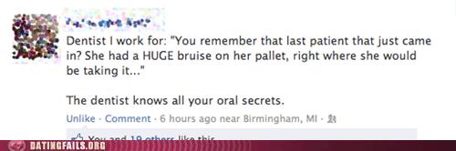 dentist Fallatio not a secret oral secrets - 6582604032