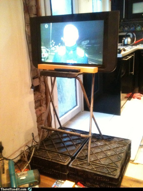 Who needs a fancy TV stand!