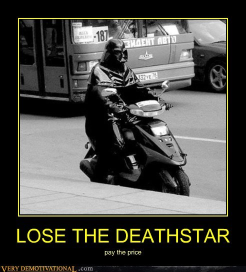 darth vader,deathstar,scooter