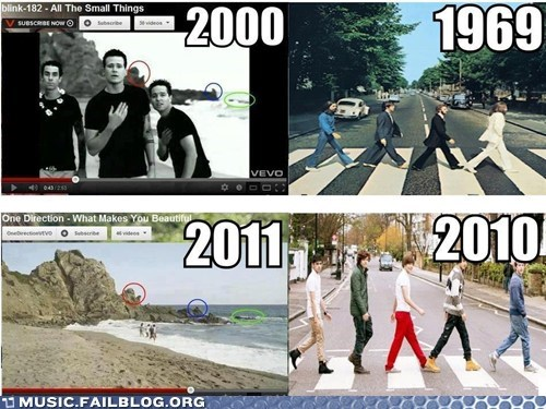 abbey road blink 182 one direction the Beatles - 6582743808