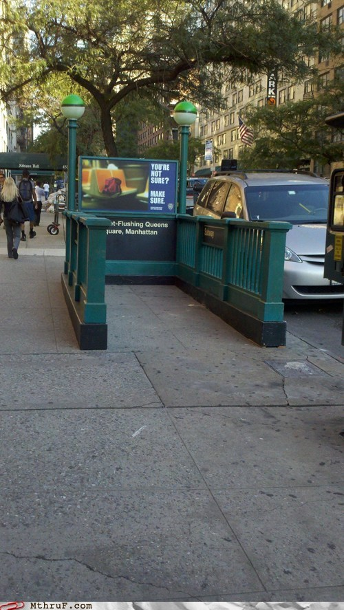 manhattan new york city nyc queens Subway subway entrance subway stairs - 6582745600