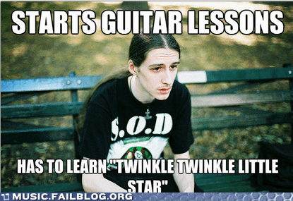 guitar lessons,metalhead meme,twinkle twinkle little star