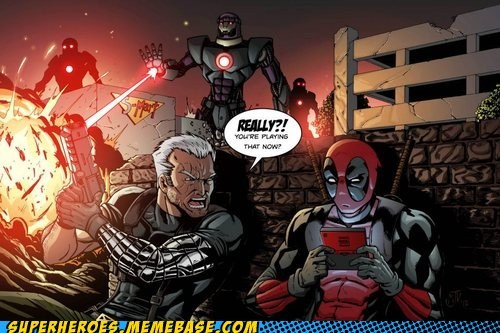 cable,deadpool,nintendo 3ds,sentinels