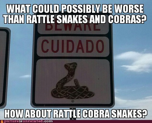 cobras rattlesnakes sign