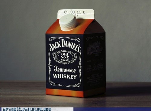 alcohol carton confused jack daniels whiskey