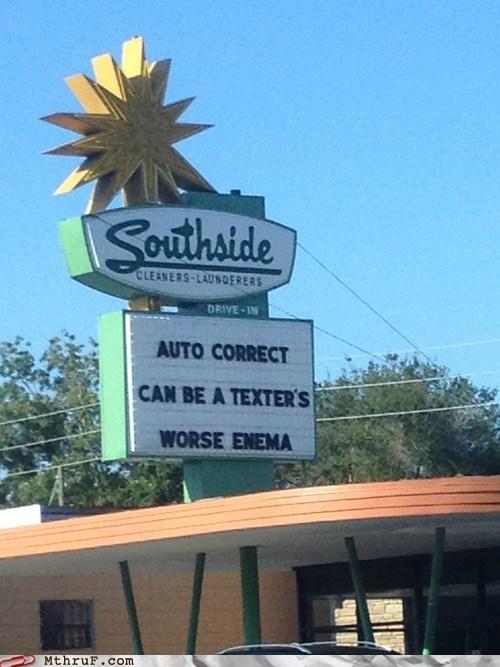 autocorrect AutocoWrecks text text message texting worst enemy - 6582996736