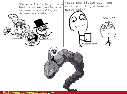 horse riding,onix,rage comic,rock throw