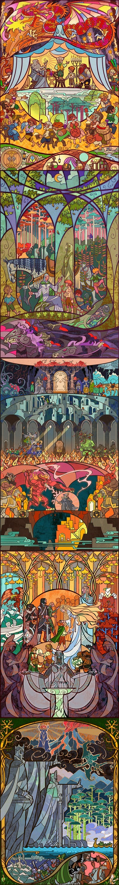 "Stained Glass ""Lord of the Rings"" Art"