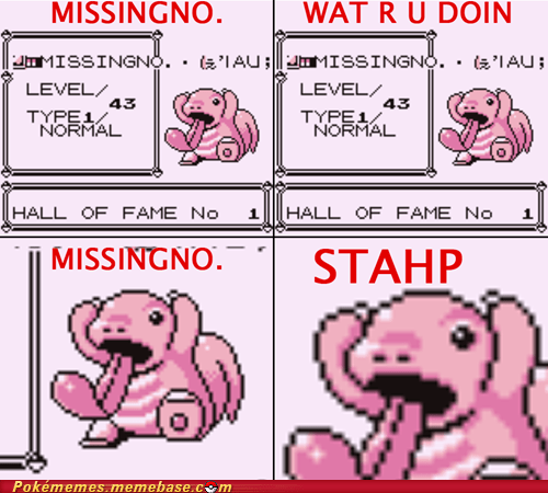 glitch Hall of Fame lickitung missingno missingno.