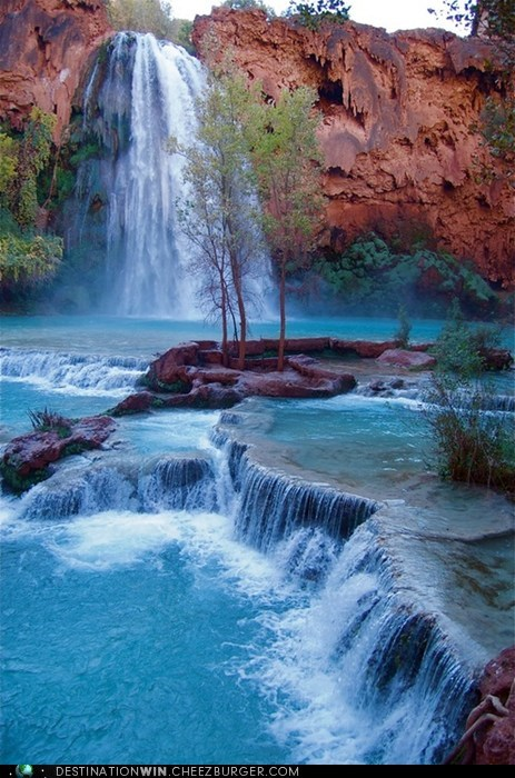 camping falls grand canyon landscape waterfall - 6583492608