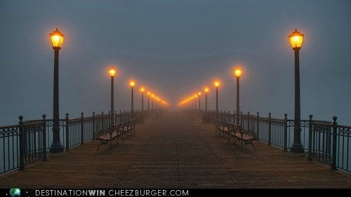 cityscape,dock,foggy,mysterious,pier