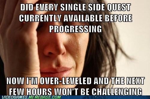 First World Problems gamers meme RPG