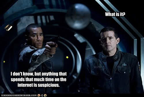 stargate universe Stargate ronald greer jamil walker smith Everett Young Louis Ferreira internet suspicious what is it - 6584009216